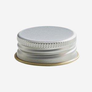 Aluminium screw cap 24mm, silver