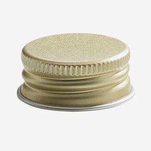 Aluminium screw cap 28mm, gold