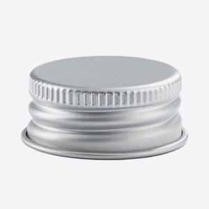 Aluminium screw cap 28mm, silver