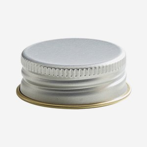 Aluminium screw cap 31,5mm, silver