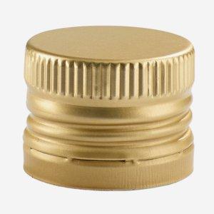 Alum. screw cap with pourer insert, 31,5/24, gold