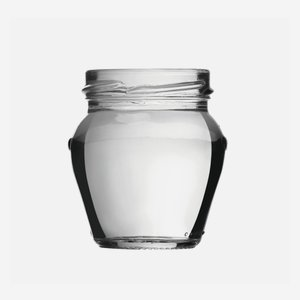 Amphora jar 106ml, white, wide mouth: TO 53