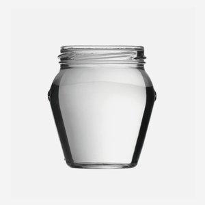 Amphora jar 212ml, white,wide mouth: TO 63