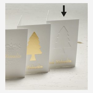"gift tag ""tree""  gold relief"
