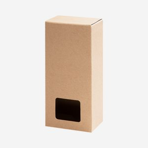 Foldable carton box,window, L10 x B6,3 x H24