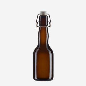 Swing top bottle 330ml, brown, finish:  Swing top