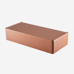 Present cardboard box in copper optic