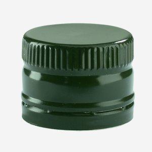 Screw cap without screw thread ø31,5/H24mm, green