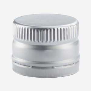 Screw cap without screw thread ø31,5/H24mm, silver