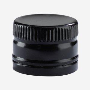 Screw cap without screw thread ø31,5/H24mm, black
