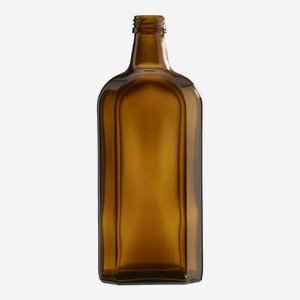 Elixir bottle 500ml, amber glass, finish: PP 28