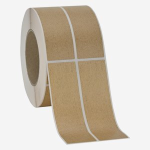 Label 135x39mm, natural brown, ribbed, dual lane