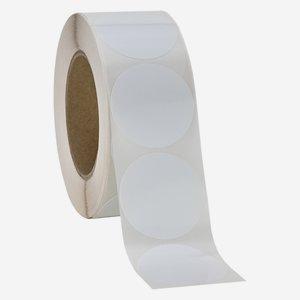 Label ø 52 mm, white, round