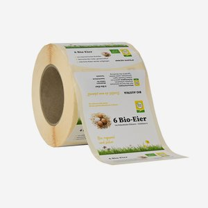 "Labels for egg carton, 6 eggs, ""Bio Austria"""