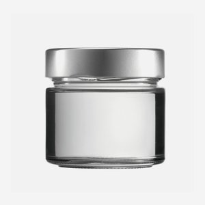 Cylindrical jar FACTUM 212ml, white, mouth: TO70DE