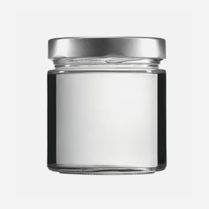 Cylindrical jar FACTUM 410ml, white, mouth: TO82DE