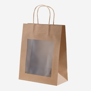 Gift  bag, natural, with window