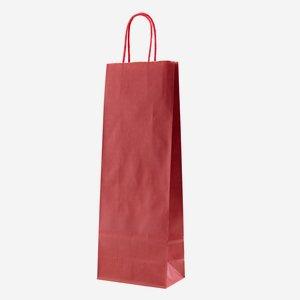 Bottle carrier bag, red