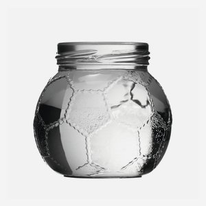 Football jar 212ml, white, wide mouth: TO58