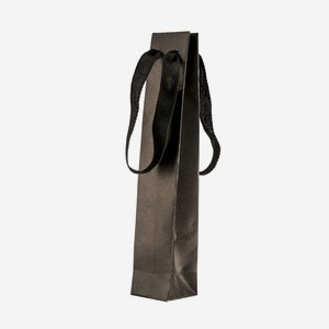 Gift carrier bag with wide ribbon, black
