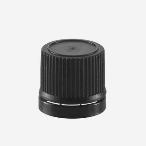 Capsule for dropper bottles, black screw cap