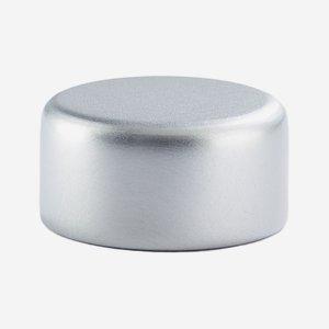 Alum-Synthetic material-Screw cap GPI 22, silver