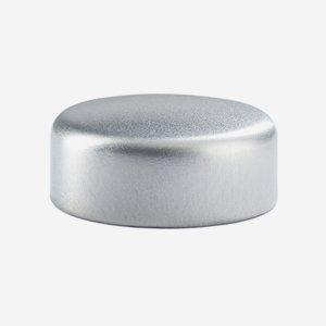 Alum-Synthetic material-Screw cap GPI 28, silver