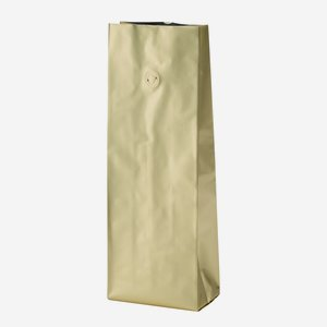 Vacuum coffee bag 1000g, gold, with valve
