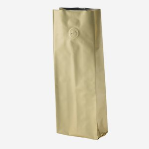 Vacuum coffee bag 500g, gold, with valve