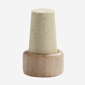 Cork stopper with wooden grip, ø10/13mm