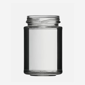 Cylindrical high jar 110ml, white, mouth: TO 48
