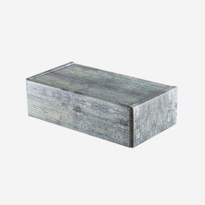 Gift cardboard box in old wood optics