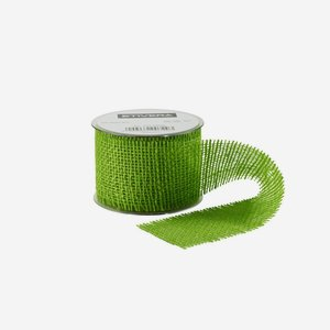 ribbon of jute fibre, 60mm, green