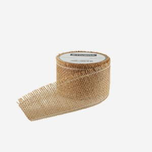 ribbon of jute fibre, 60mm, brown