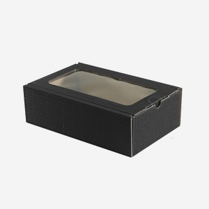 Present cardboard box eCo-wave, black, with window