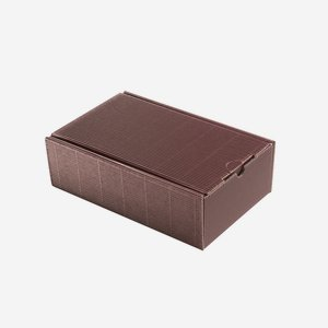 Present cardboard box eCo-wave, red