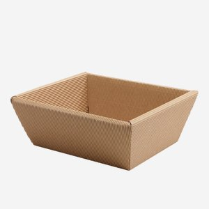 Present cardboard box bowl eCo-wave, brown