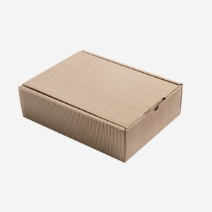 Present cardboard box eCo-wave, brown