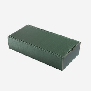 Present cardboard box eCo-wave, green