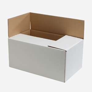 Packaging cardboard box for 12x 1,0l juice bottle