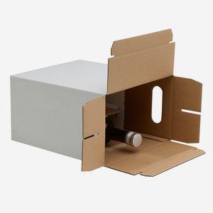 Packaging cardboard for 6x 0,75l Bordeaux bottle