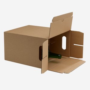 Packaging cardboard box for 6x1,0l bottle