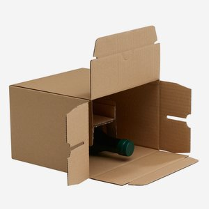 Packaging cardboard box for 6x 0,25l bottle