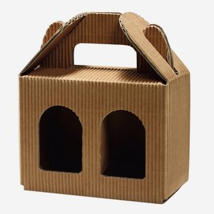 Jars cardboard box eCo-wave for 2 x Fac-192, brown