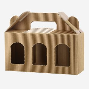 Jars cardboard box eCo-wave for 3 x Fac-192, brown