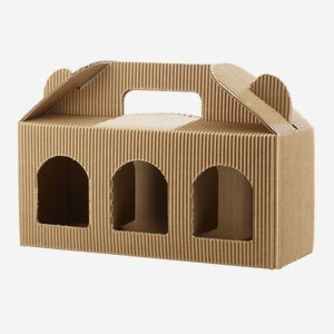 Jars cardboard box eCo-wave for 3 x Fac-212, brown
