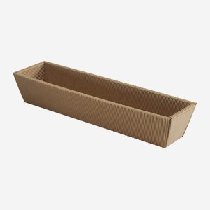Present cardboard box bowl eCo-wave, brown, long