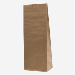 Block bottom bag 10 kg, unprinted, brown natural