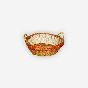 Wicker basket, plaited, oval