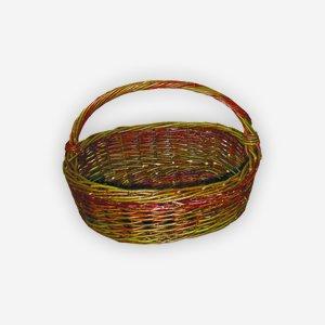 "Wicker basket ""BANANA"", plaited, oval"